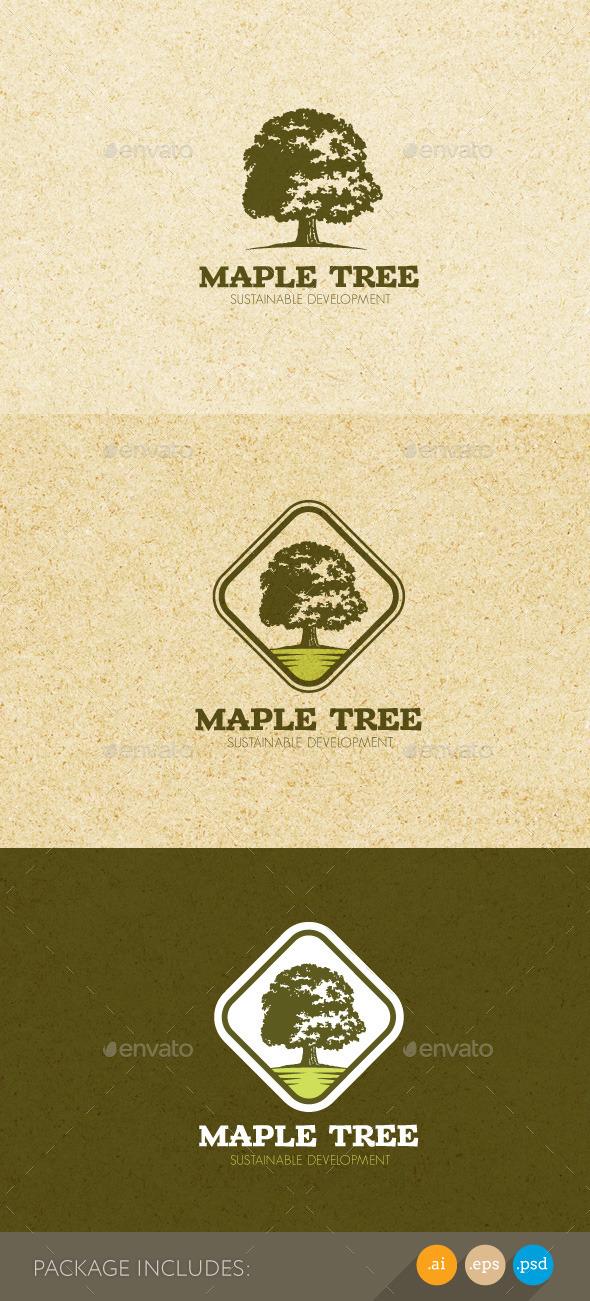Maple Tree Sustainable Development Logo - Nature Logo Templates