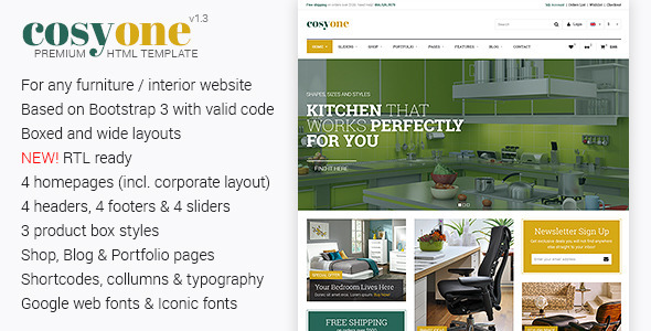 CosyOne – Premium Furniture/Interior HTML Template