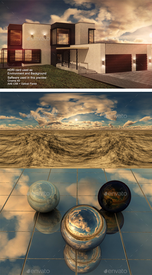 Sunset Deset 5 - 3DOcean Item for Sale