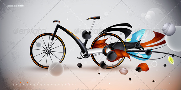 Concept bike for urban transportation. product  - Abstract Conceptual