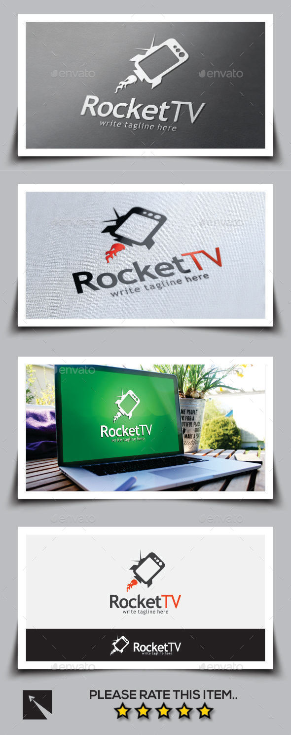 Rocket Tv Logo Template - Objects Logo Templates