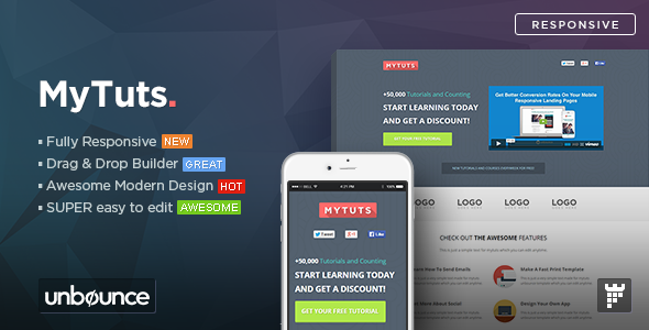 MyTuts – Education Unbounce Template