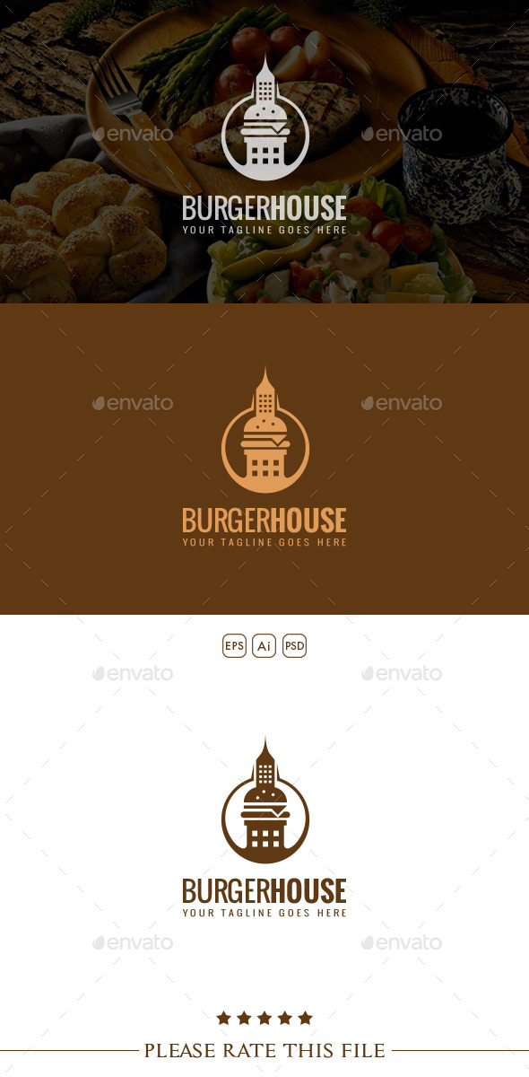 Burger Logo - Buildings Logo Templates