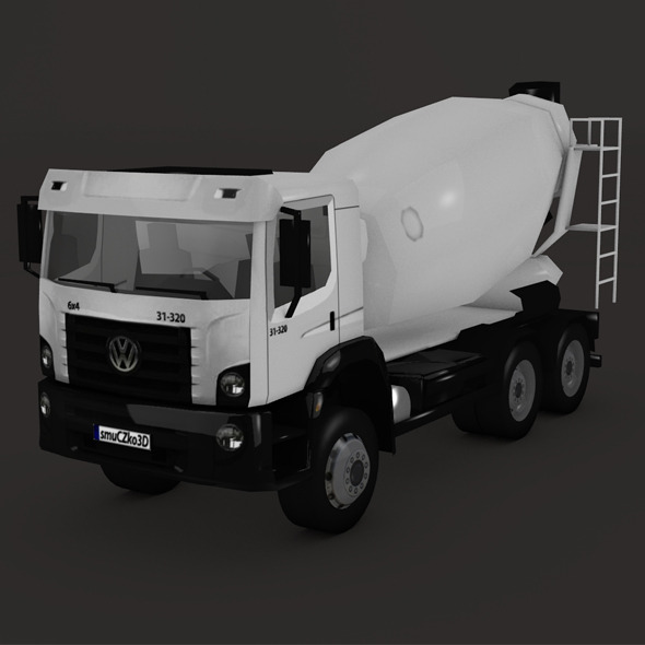 LOW POLY VOLKSWAGEN CONSTELLATION MIXER 2011 - 3DOcean Item for Sale