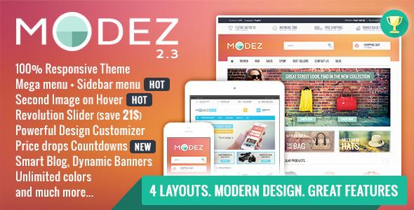 MODEZ - Responsive Prestashop 1.6 Theme + Blog