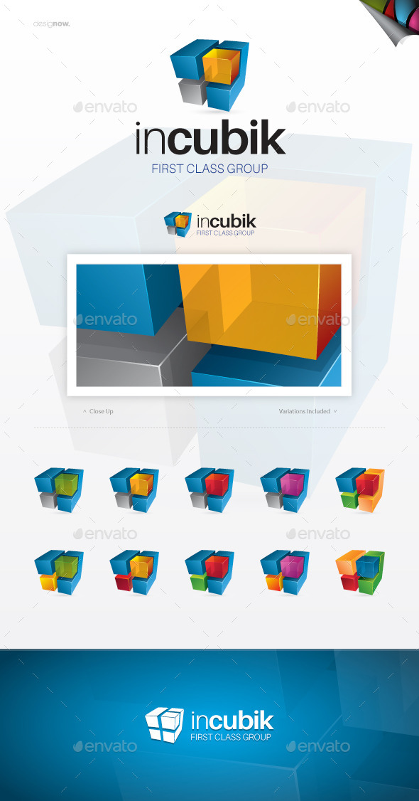 In Cubic Logo - Abstract Logo Templates