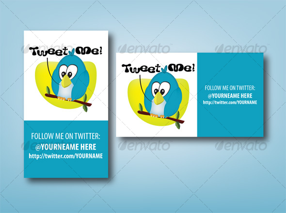 Tweet ME! - Twitter ID Card - Creative Business Cards
