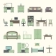 Furniture Interior Flat Icons - GraphicRiver Item for Sale
