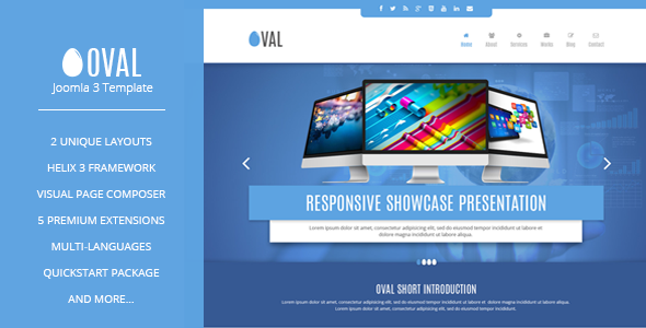 Vina Oval :: Responsive Joomla 3 One Page Template - Corporate Joomla