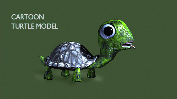Cartoon Turtle - 3DOcean Item for Sale
