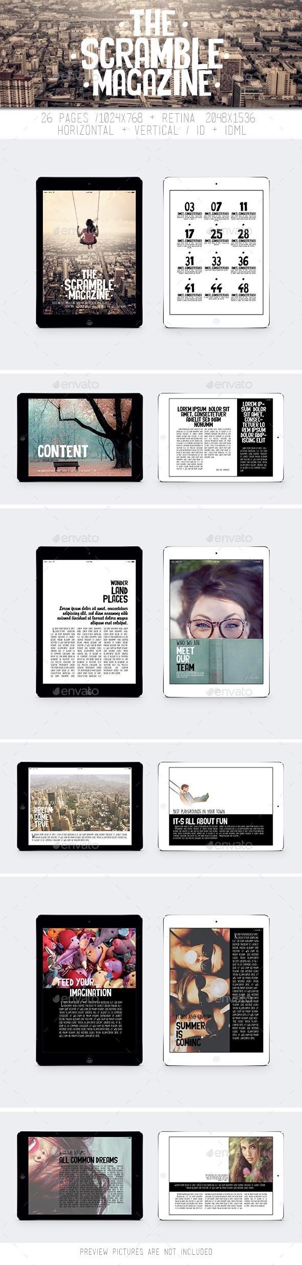 Tablet The Scramble Magazine