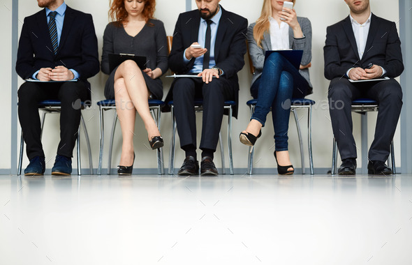 Waiting for interview - Stock Photo - Images