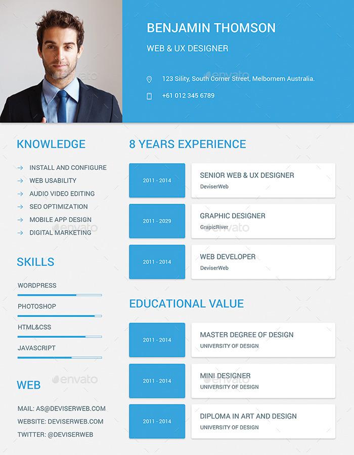 material design resume cv set by ali sayed graphicriver