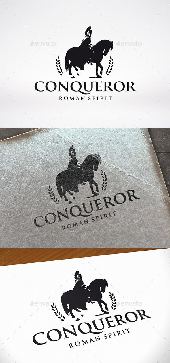 conqueror horse logo template by bosstwinsmusic graphicriver
