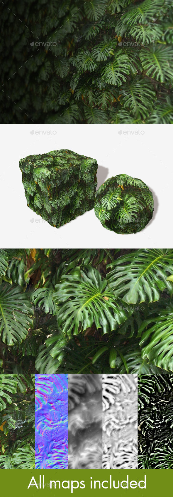 Jungle Background Seamless Texture - 3DOcean Item for Sale