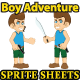Boy Adventure Sprites Sheet - GraphicRiver Item for Sale