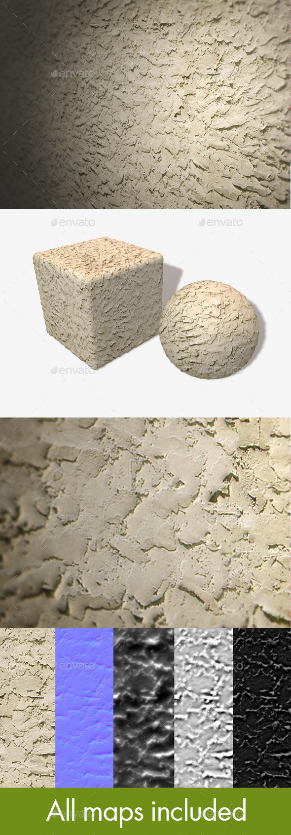 Rough Wall Plastering Seamless Texture - 3DOcean Item for Sale