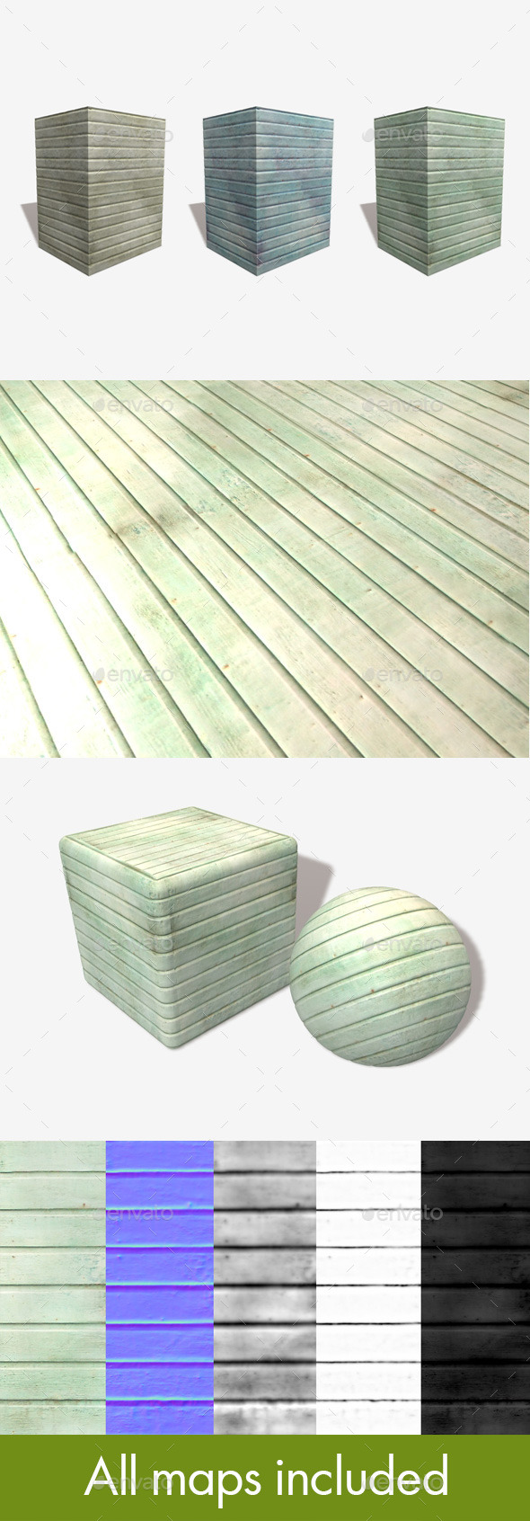Stained Wood Seamless Textures x3 - 3DOcean Item for Sale