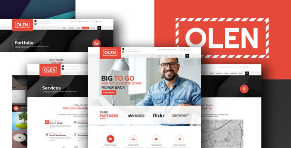OLEN - Multipurpose Corporate PSD Template - Business Corporate