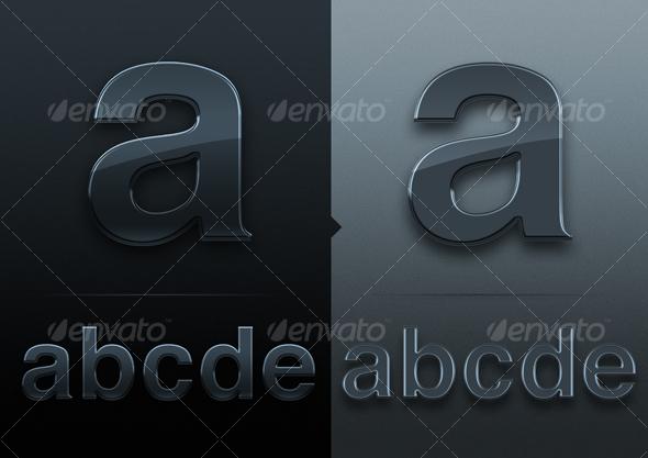 Silver Text - Decorative Graphics