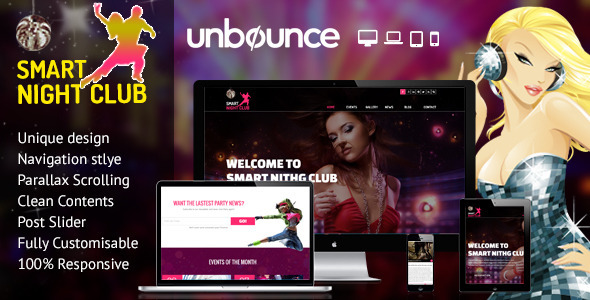 Nightclub - Unbounce Responsive Landing Page - Unbounce Landing Pages Marketing