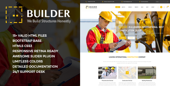 Builder – Responsive Construction Site Template