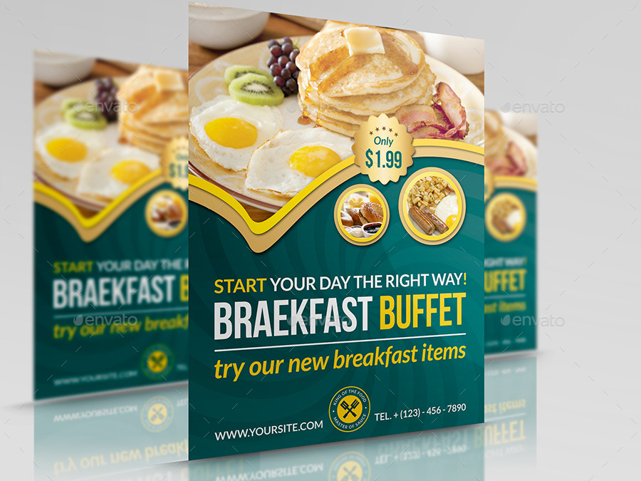 breakfast flyer template free thevillas co