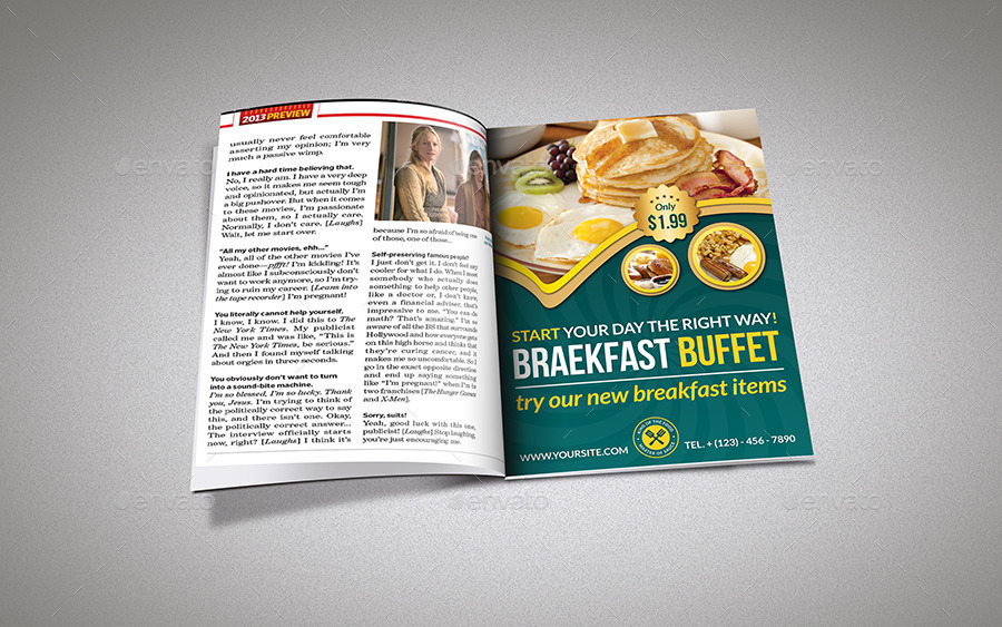 Breakfast Restaurant Flyer Template By Owpictures Graphicriver