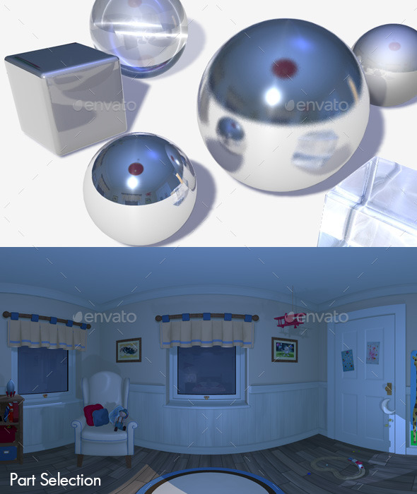 HDRI Nighttime Bedroom - 3DOcean Item for Sale