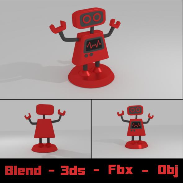 R Mecha Robot Figure - 3DOcean Item for Sale