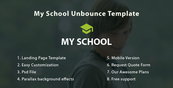 My School Unbounce Landing Page - Unbounce Landing Pages Marketing