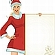 Santa girl with paper - GraphicRiver Item for Sale
