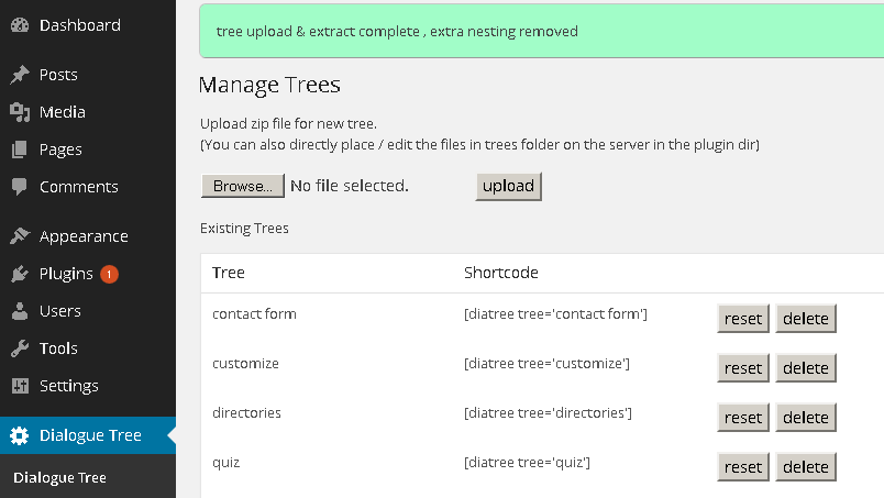Diatree fast tree and form generator