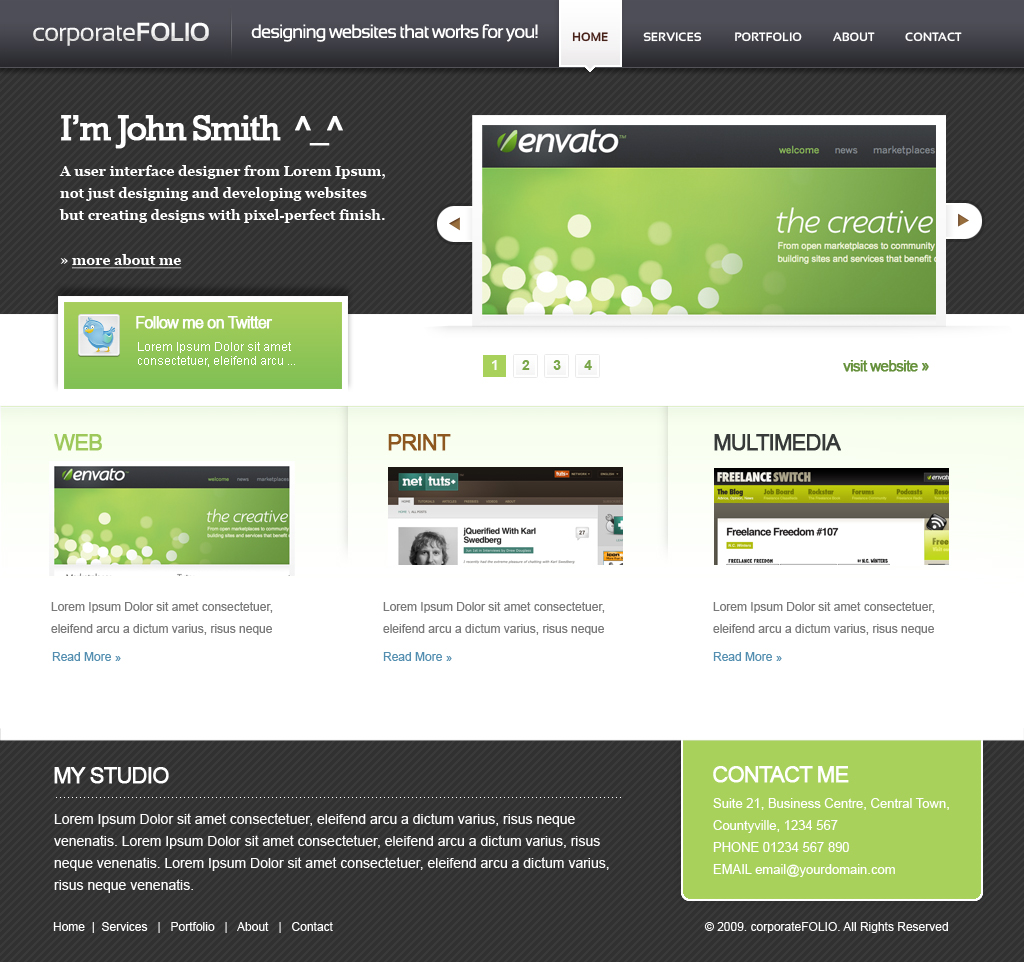 Free Download corporate folio Nulled Latest Version