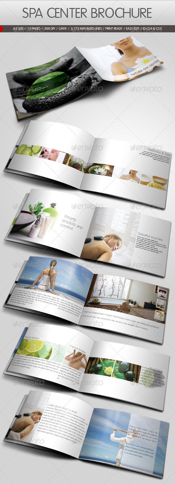 Spa Center Brochure Template - Corporate Brochures