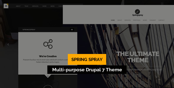 Springspray - Multipurpose Drupal Theme