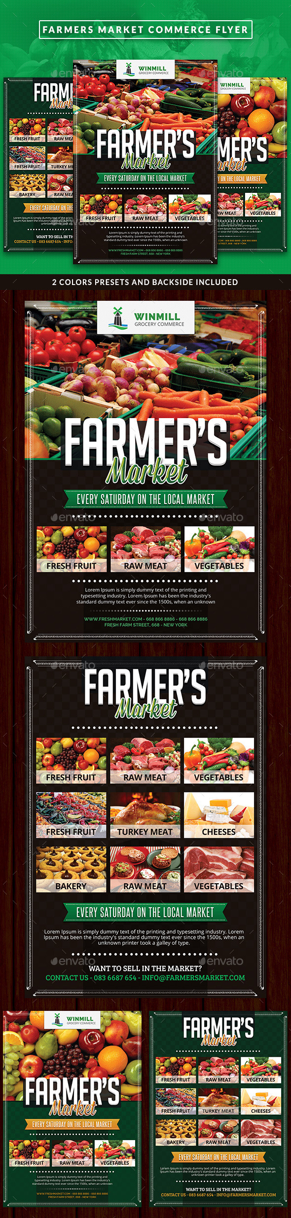 Farmer's Market Commerce Flyer - Commerce Flyers