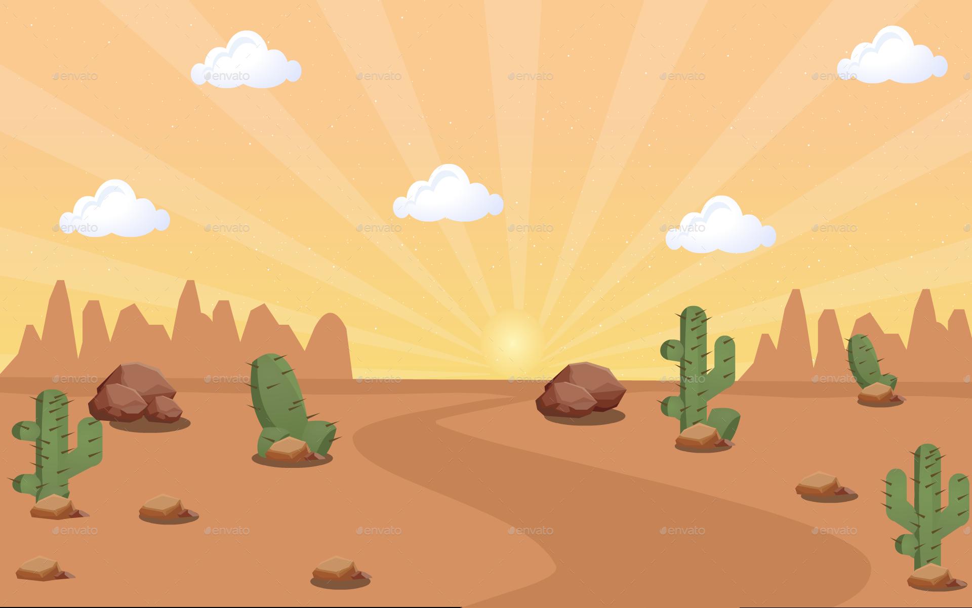 Desert Wild West Bg By Werezu Graphicriver