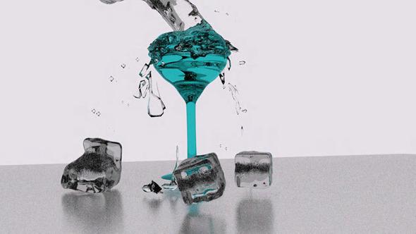 falling splash ice - 3DOcean Item for Sale