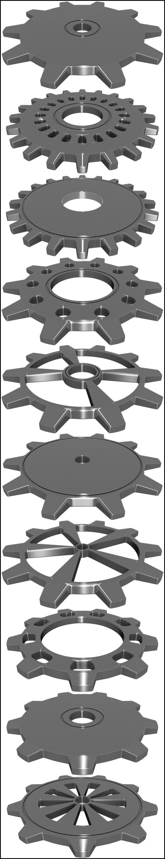 Gears 10 Set - 3DOcean Item for Sale