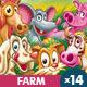 Farm and Village Set - Animals Collection - GraphicRiver Item for Sale