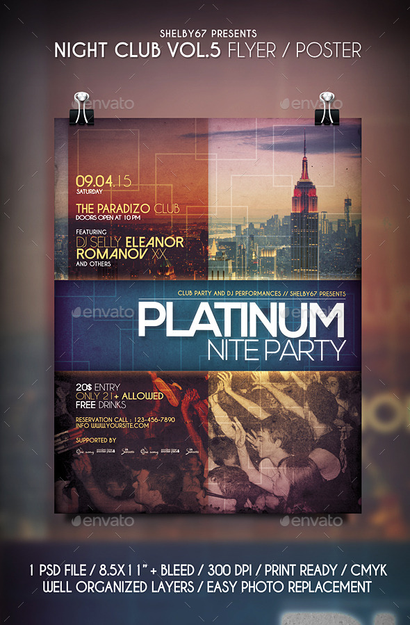 Night Club Flyer / Poster Vol 5 - Clubs & Parties Events