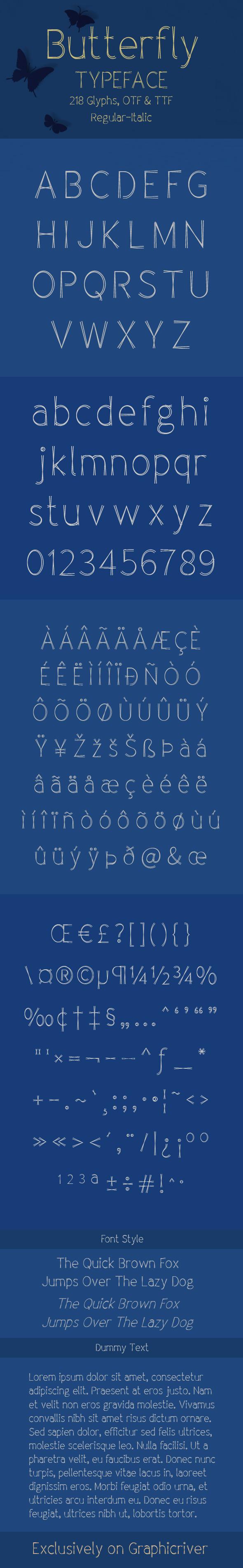 Butterfly Typeface - Sans-Serif Fonts