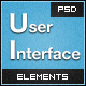 Dark UI Elements - GraphicRiver Item for Sale