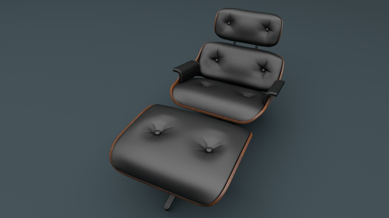 Eames Lounge Chair by 3dtreatment | 3DOcean