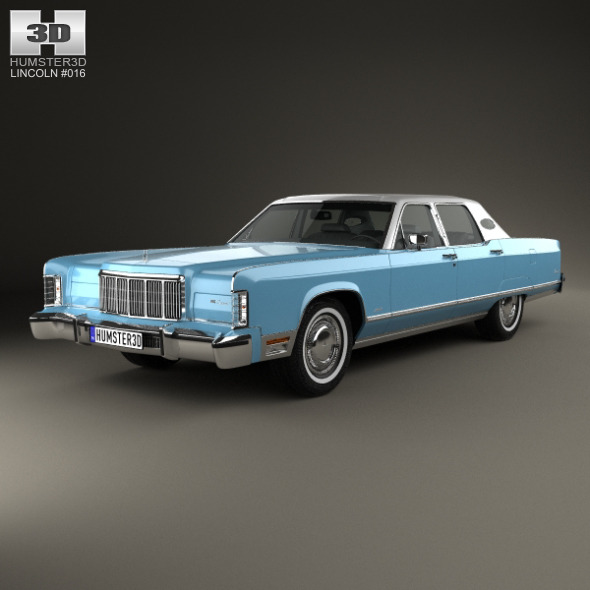 Lincoln Continental sedan 1975 - 3DOcean Item for Sale
