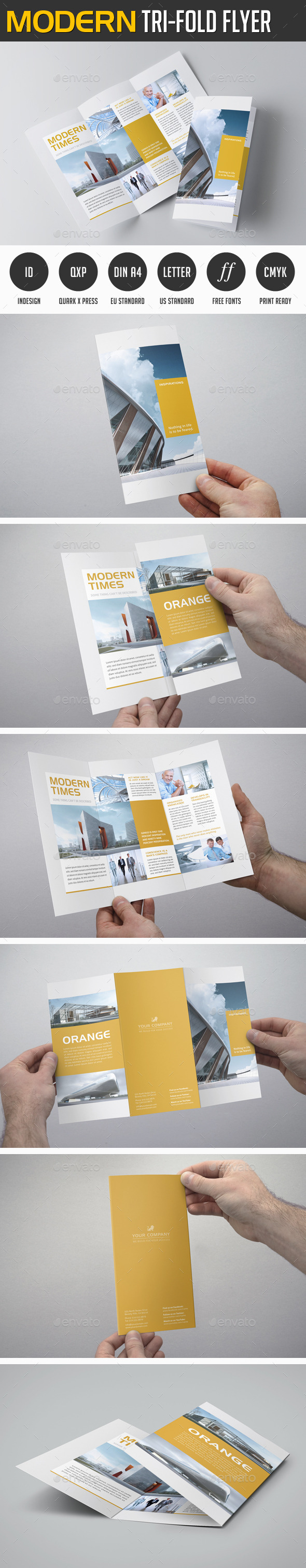 Modern Trifold Flyer - Corporate Brochures