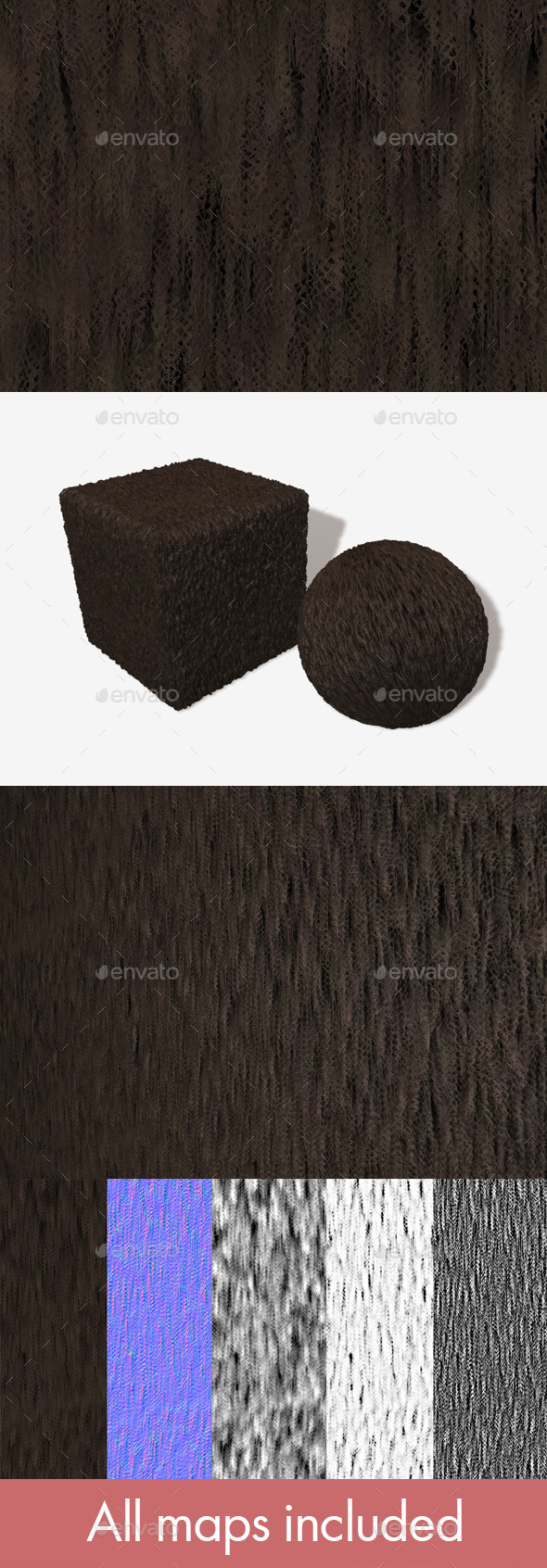Frizzy Brown Fur Seamless Texture - 3DOcean Item for Sale
