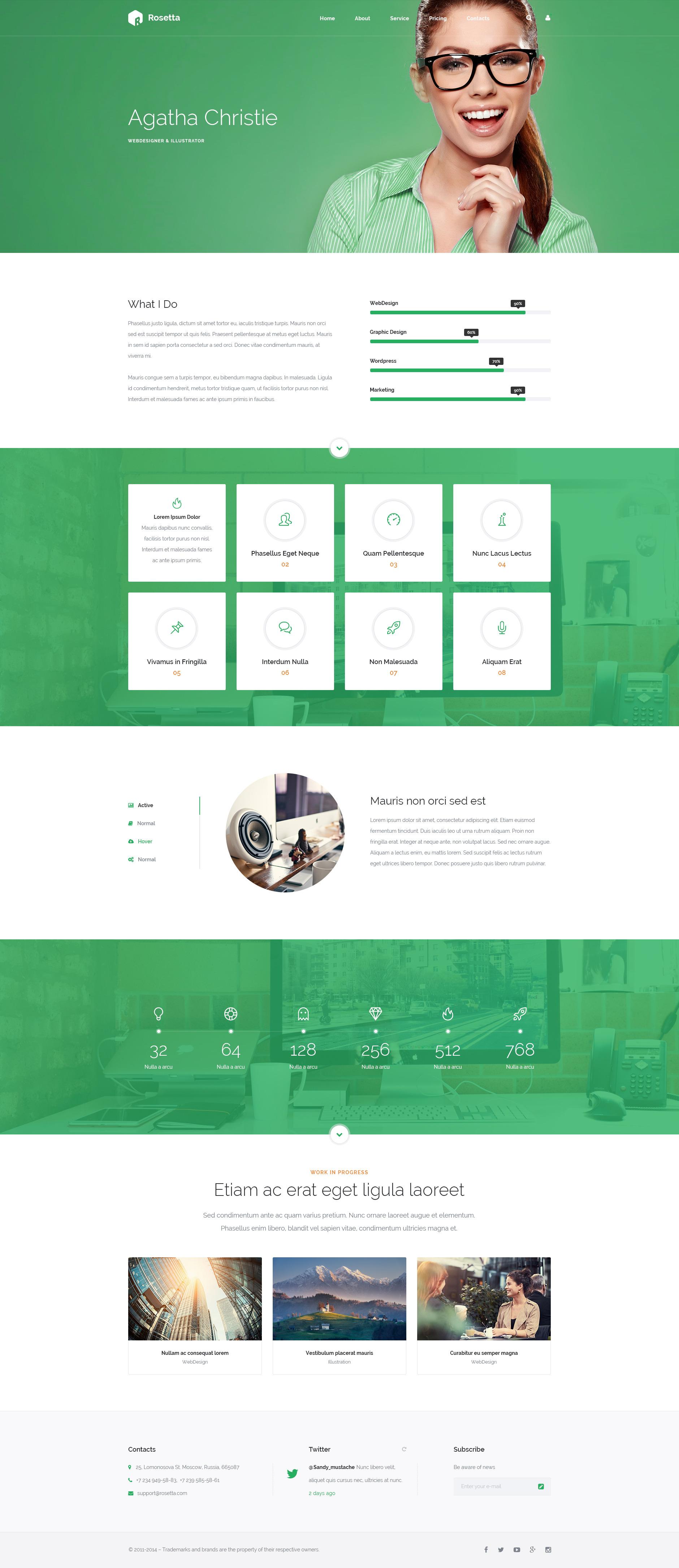 Rosetta - Multipurpose HTML Template by Svetlov   ThemeForest