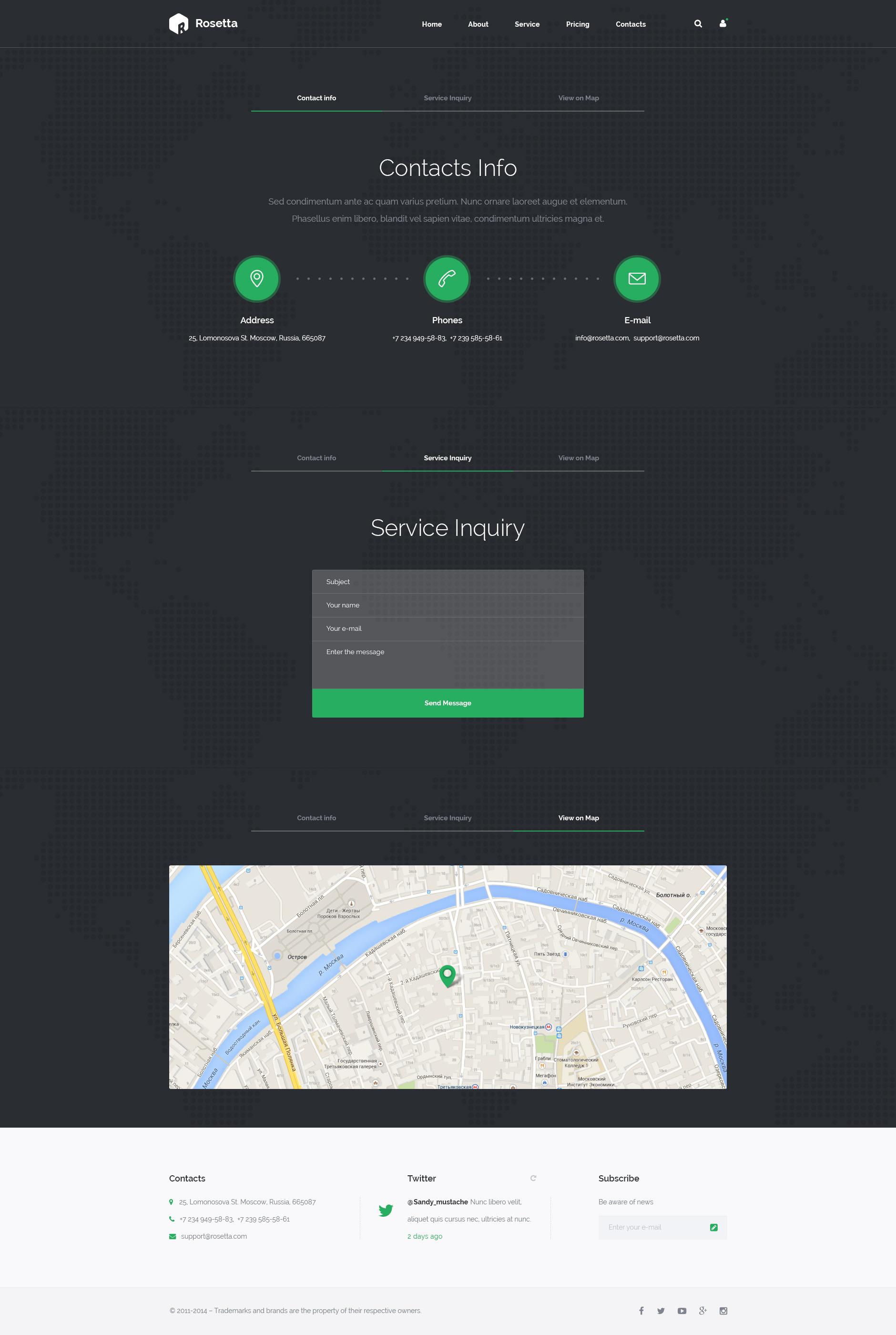 Rosetta - Multipurpose HTML Template by Svetlov | ThemeForest